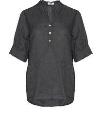 tiffany shirt linen, dark grey, 17661