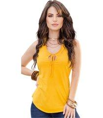 blusa adulto femenino amarillo marketing  personal