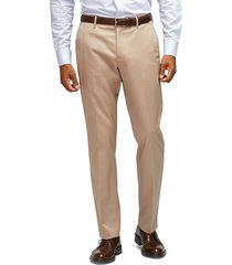 men's big & tall bonobos weekday warrior tailored fit stretch pants, size 36 x 36 - beige
