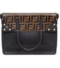 fendi fendi flip regular shoulder bag - black