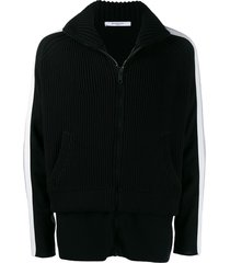 givenchy ribbed fleece jacket - black