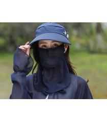 protección solar de verano sombrero de sol femenino azul