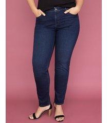 lane bryant women's super stretch straight jean - dark wash 14l dark denim