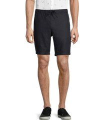 saks fifth avenue men's linen drawstring shorts - infinity blue - size xl