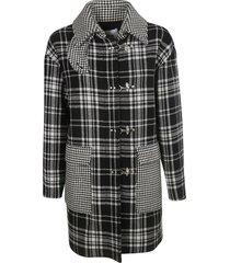 msgm checked duffle coat