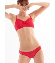 brasier tipo top   ref 1488r. color rojo brillante