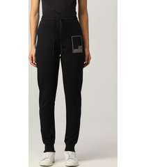 love moschino pants love moschino jogging pants with stitched logo
