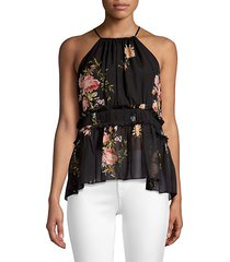 shawnette floral silk top