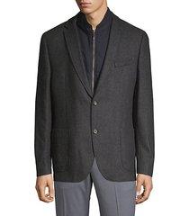 textured hybrid sports jacket