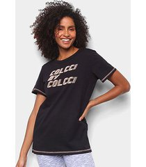 camiseta colcci nó frontal estampada feminina - feminino