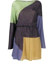 m missoni fine-knit lamé dress - gold