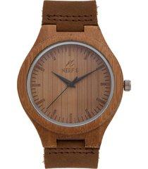 reloj madera beige nerfis