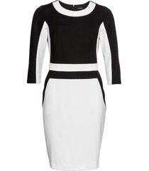 abito di jersey con maniche a 3/4 (bianco) - bodyflirt