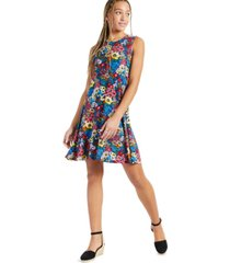 style & co floral-printed sleeveless knit dress, created for macy's