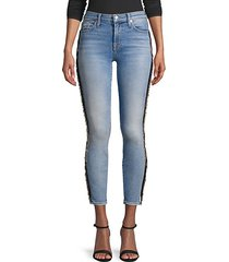 ankle beaded skinny jeans