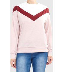 sweater brave soul rosa - calce regular