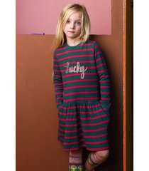 oilily hattana sweat dress 65 big stripes et- turquoise