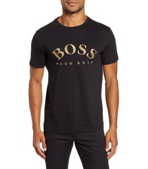 men's boss embroidered logo t-shirt, size x-large - black