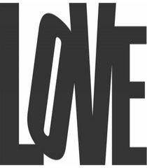 enfeite decorativo palavra love silhueta preto mdf 21x47cm - preto - dafiti