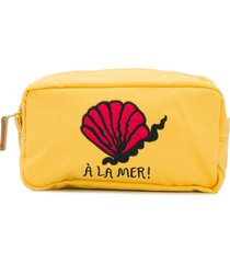 mini rodini à la mer embroidered pouch - yellow