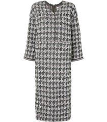 coohem gun club tech tweed dress - grey