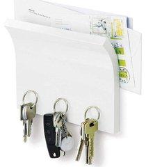 organizador porta chaves e correspondências magnetter madeira magnético branco umbra