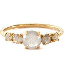 'xw bridal' rose cut diamond 18k gold ring