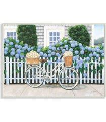 "stupell industries cape cod daisy bike wall plaque art, 12.5"" x 18.5"""