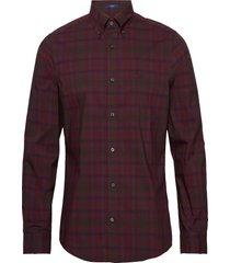 d2. tp broadcloth plaid slim lbd overhemd casual rood gant