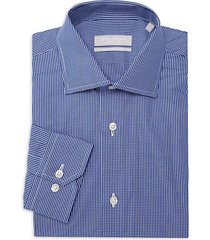 classic-fit fine-check h.f. sil dress shirt