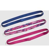 lane bryant women's skinny headbands 3-pack onesz multi color