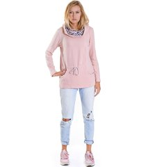 bluza fio wiązana-różowy
