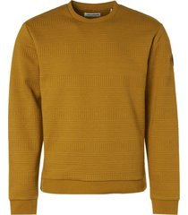 no excess sweater crewneck fancy jacquard gold