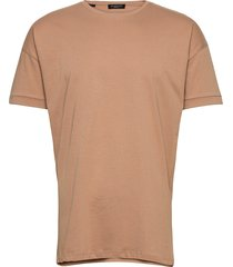 slhemil ss o-neck tee b t-shirts short-sleeved brun selected homme