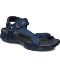 mens go walk outdoors shoes summer shoes sandals blå skechers