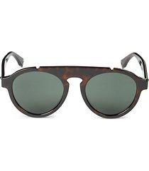 52mm faux tortoiseshell sunglasses