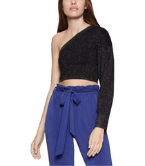 bcbgeneration one-sleeve cropped sweater