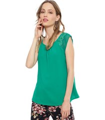 blusa io sm verde - calce regular
