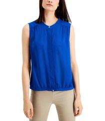 alfani band collar blouse, created for macy's