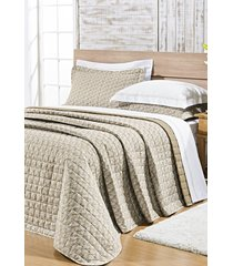 cobre leito bernadete casa king estampado 100% algodão percal 200 fios - nobre 3 peças floral cáqui