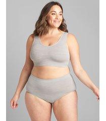 lane bryant women's scoop-neck seamless bralette 18/20 nova grey