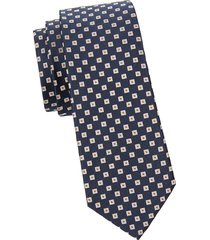 canali men's geometric silk tie - black