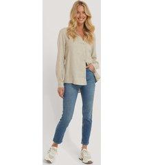 trendyol höga skinny jeans med slitningar - blue