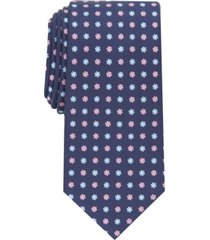 club room men's ash slim floral tie, created for macy's