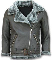 leren jas z design imitatie lammy coat