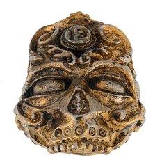 13 lucky monkey skull ring - gold