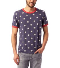 alternative apparel men's printed ringer t-shirt