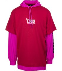 unisex pink your logo here t-shirt with hood