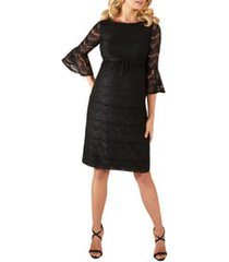 women's tiffany rose jane lace maternity cocktail dress, size 5 - black