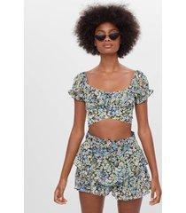 blouse met bloemenprint en strik